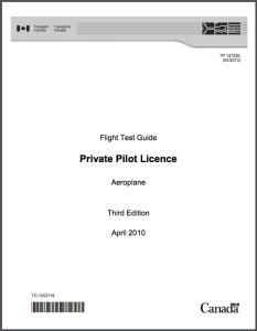 Private Pilot Licence Aeroplane