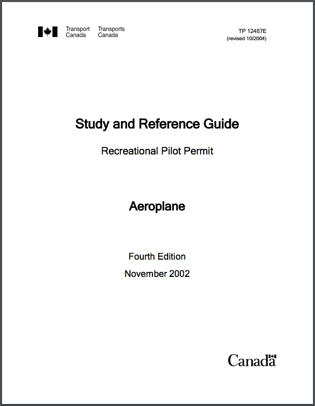 Recreational Pilot Permit Study Guide